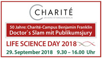 50 Jahre: Charité-Campus Benjamin Franklin Doctor's Slam mit Publikumsjury LIFE SCIENCE DAY 2018